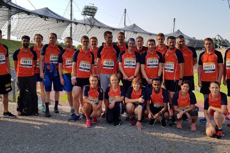 Die Starter vom SV OSRAM beim B2Run 2018 in München